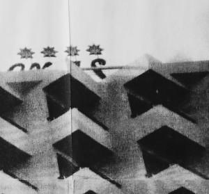 Eva Pel ****, 2013, silkscreen on kappa (detail)